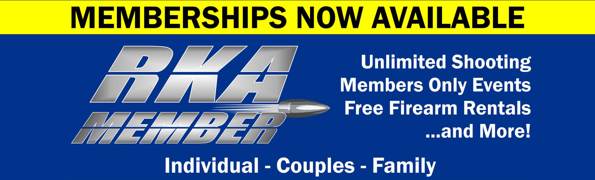 Memberships Now Available